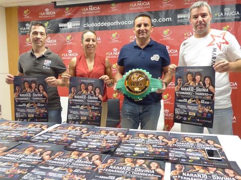 Eva Naranjo boxeará por un título internacional en La Nucía el viernes 29 de junio