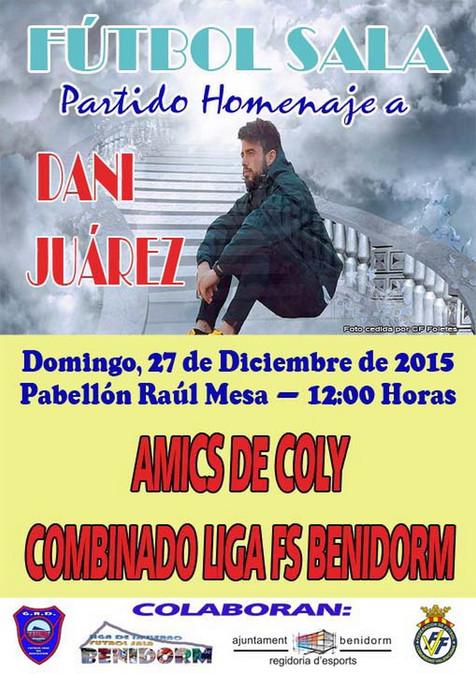 Homenaje a Dani Juárez de la Liga Local de Fútbol Sala de Benidorm