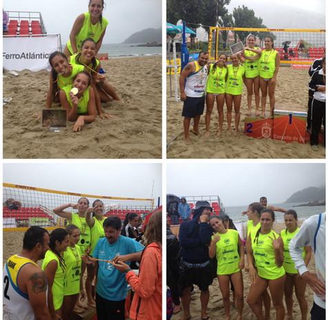 El Club Voley Playa Poniente Benidorm Sub Campeón de España Voley Paya Cadete Femenino