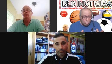 Debate deportivo con Rafa Lago, Pedro Muñoz y Javi Ortíz, Director Deportivo del CF Calvari Benidorm