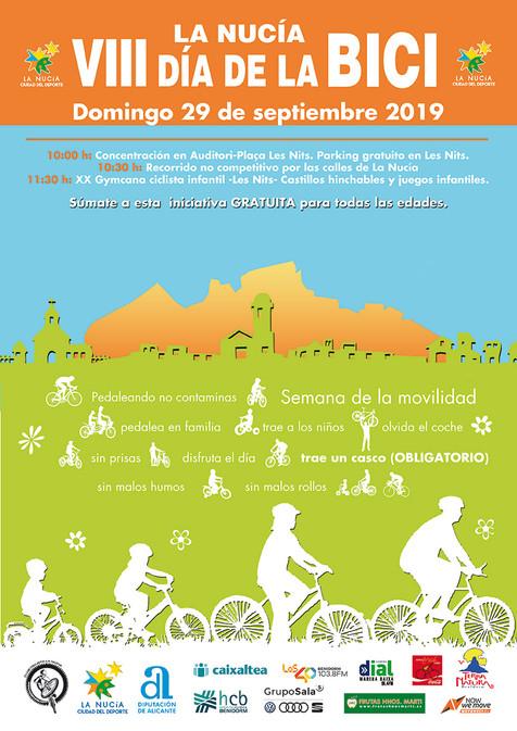 """La Nucía pedalea el 29 de septiembre con el """"VIII Día de la Bici"""""""