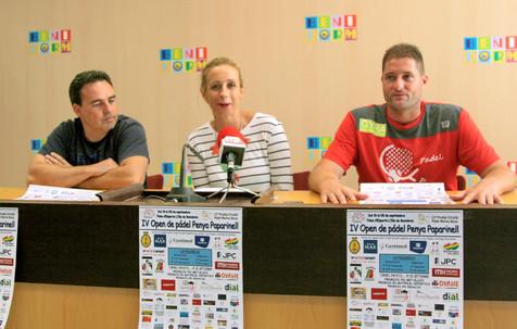 El IV Open de pádel Penya Paparinell se juega a partir del lunes en el Palau d'Esports