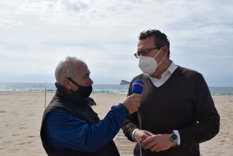 El Alcalde de Benidorm asiste a la presentación del Fútbol Playa del CF Benidorm (contiene vídeo)