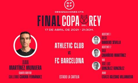 Martínez Munuera dirigirá la final de la Copa del Rey