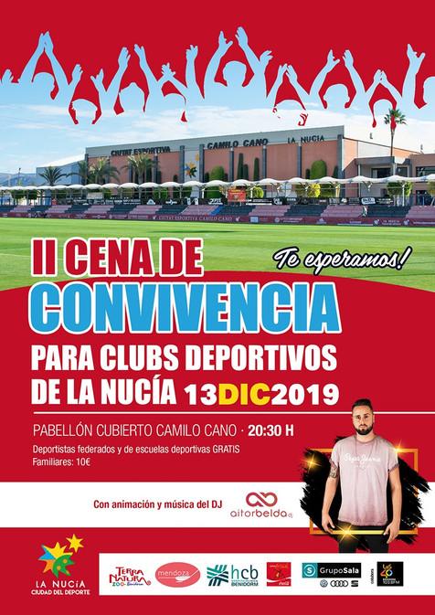 II Cena de Convivencia de Clubes Deportivos de La Nucía