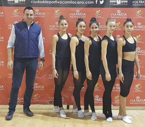 El conjunto nuciero de primera categoría en el Nacional Gimnasia Rítmica
