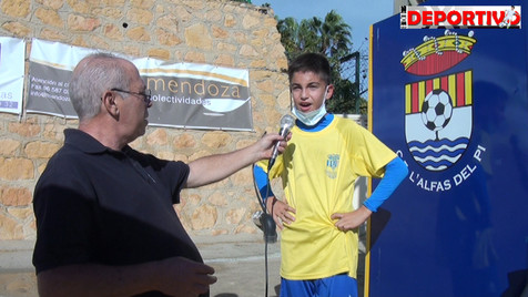 Vídeo resumen y entrevistas del partido entre el Alevín A del CF Alfaz del Pi y el CD Polop A
