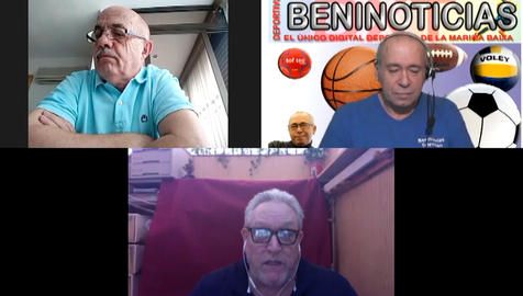 Debate deportivo con Pedro Muñoz, Rafa Lago y Javi Abinzano, presidente del Club Balonmano Benidorm
