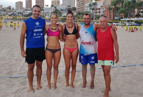 Soria / Lobato vuelven a entrenar en Benidorm con Raúl Mesa