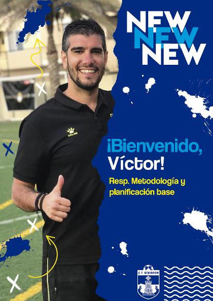El CF Benidorm incorpora a Víctor de Arce como responsable de Metodología de los equipos de la base
