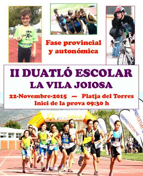 El II Duatlón escolar se celebrará el próximo 22 de noviembre en Villajoyosa