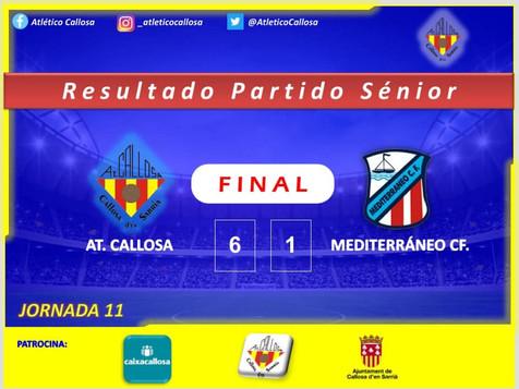Contundente victoria del At. Callosa frente al Mediterráneo CF