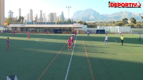 Vídeo resumen del partido entre el Juvenil Nacional del At. Benidorm y el Elche CF