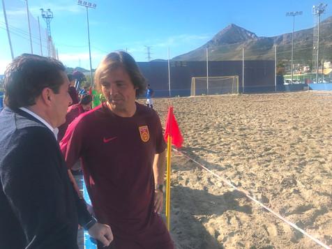 Amarelle dirige a la Selección China de Fútbol Playa en La Nucía