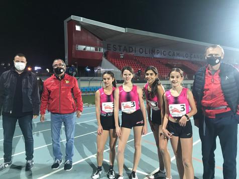 """Las cadetes del C.A. La Nucía quedan cuartas en el """"Provincial de Atletismo"""""""
