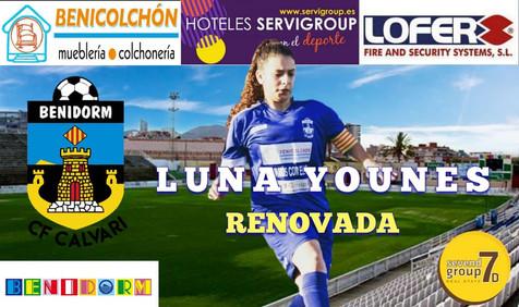 Luna H. Younes renueva su compromiso con el CF Calvari Benidorm