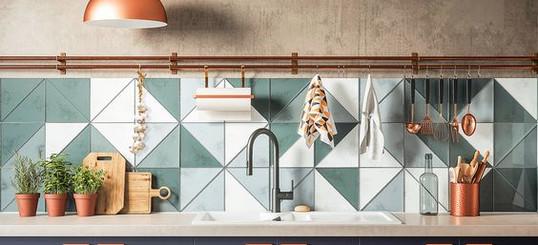 tile backsplash trend 2019