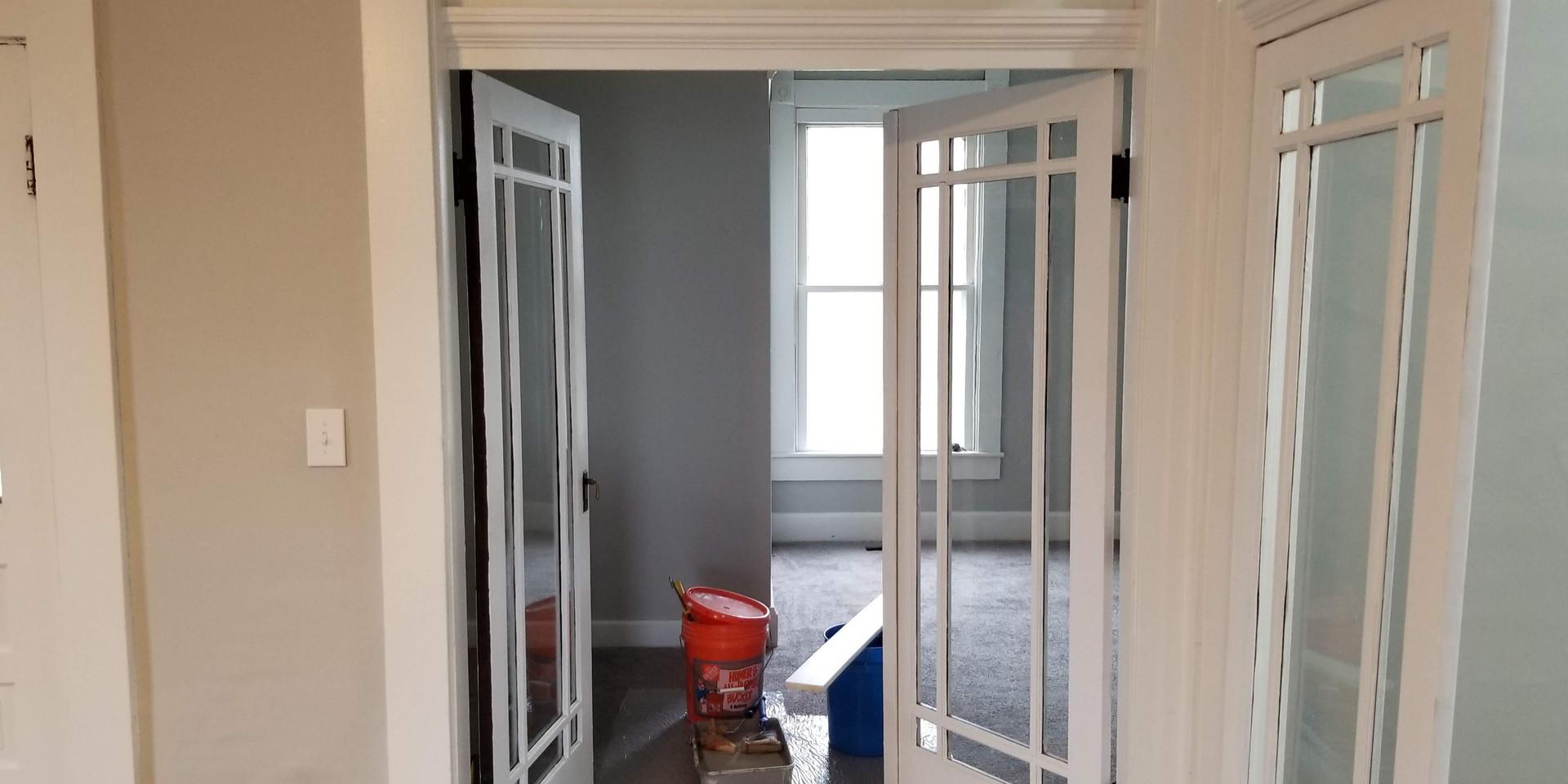 Door Way Resurface, Reglazing then Painting