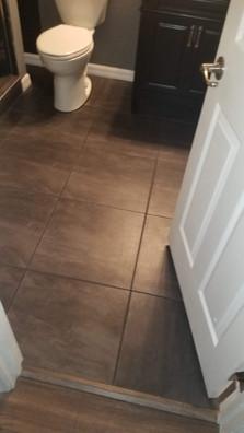 tile bathroom floor installation