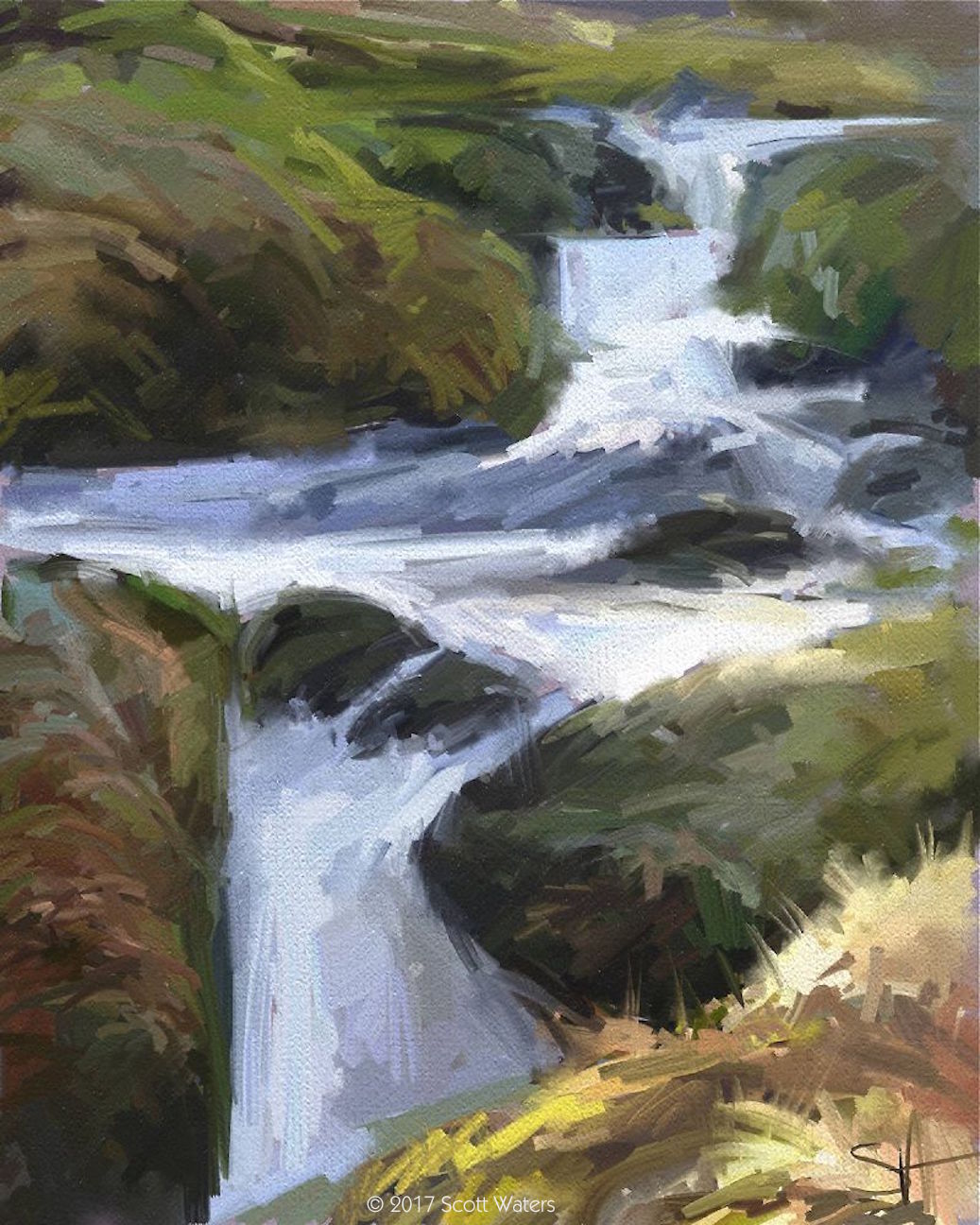 Waterfall - acrylic