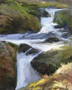 Waterfall - acrylic