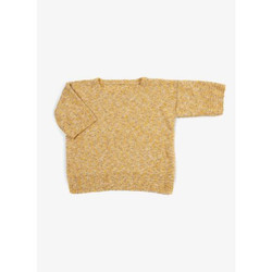 Pull manches courtes col rond OCRE SABLE