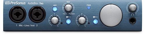 PreSonus AudioBox iTwo 2x2 USB 2.0 / iOS interface w/2 Mic inputs, Studio One Ar