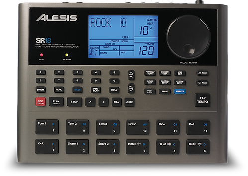 Alesis SR18 Drum Machine with 500+ Drum/ Percussion Sounds, Bass Synth