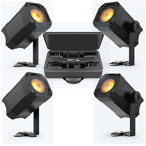 Chauvet EZLink Par Q1BT Pack: 4 Wireless, Battery Powered Pinspots