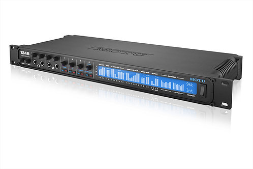 MOTU 1248 32x34 I/O with 4 mic in, 8x12 TRS, 48-ch mixing, and AVB networking