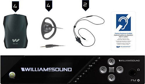 Williams Sound FM557: FM+ and Wi-Fi Assistive Listening, 4 Receivers