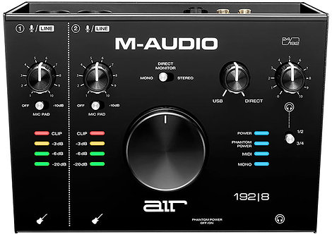 M Audio AIR 192|8   2-In/4-Out 24/192 Audio MIDI Interface