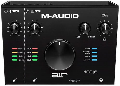 M Audio AIR 192|6   2-In/2-Out 24/192 USB Audio/MIDI Interface