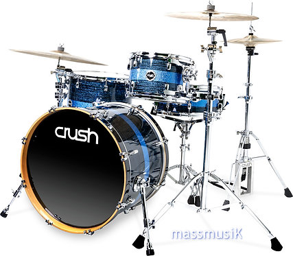 "CRUSH Sublime ST Maple 3 Piece Shell Pack + 22"" Bass"
