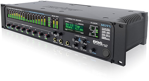 MOTU 896mk3 Hybrid FireWire/USB2 8 Mic/Guitar Inputs with on-board effects