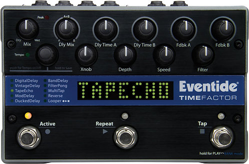 Eventide TimeFactor: Nine dual delays with dedicated mix, delay time, feedback