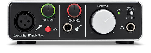 Focusrite iTrack Solo-lightning: PROFESSIONAL RECORDING ON MAC, PC AND IPAD