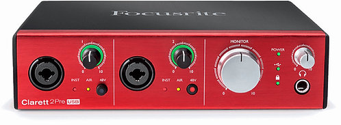 Clarett 2Pre USB: 10-in, 4-out Audio Interface For PC And Mac®