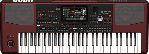 Korg PA1000 61-Key Pro Arranger with Speakers, Tiltable Color Touch Screen