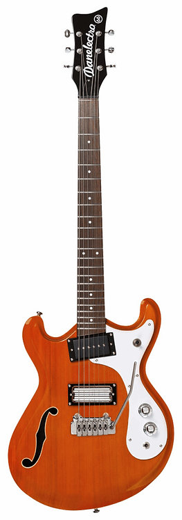 Danelectro 66T: Semi Hollow W/ large single coil and Lipstick Humbucker pair