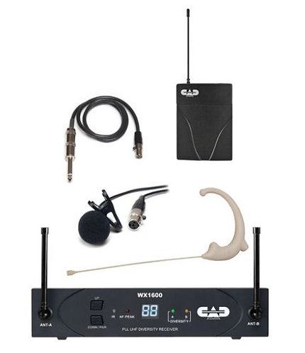 CAD WX1610 UHF WIRELESS BODY PACK SYSTEM