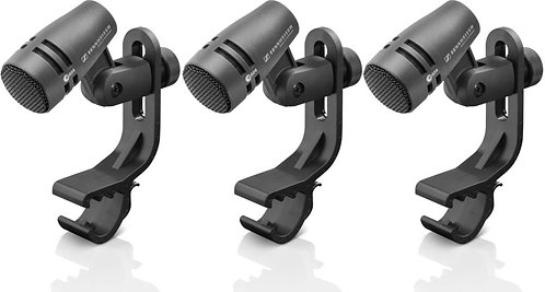 Sennheiser e 604 Three Pack Cardioid Microphone - Drums and Brass Instruments
