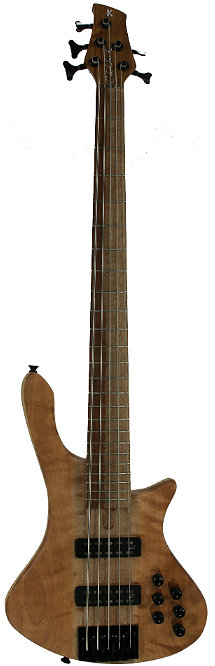 Cole Clark Long Lady Bass: 5 string bass by Neil Kennedy.