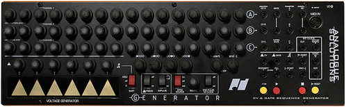 Analogue Solutions Generator: 3 Channel 16 Step CV/Gate Sequencer