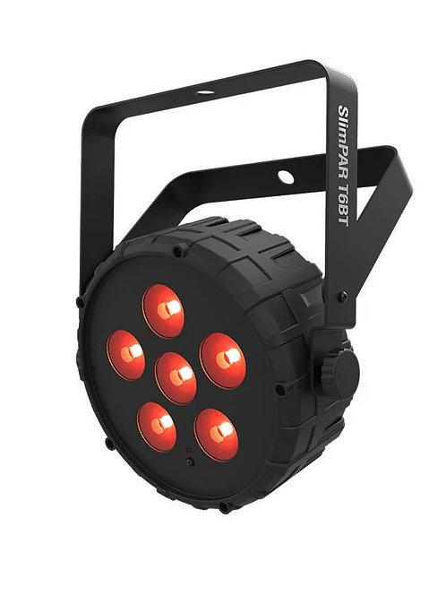 Chauvet SlimPAR T6BT: low profile, high output, bluetooth wash light -RGB