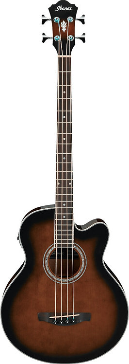 Ibanez AEB10E: Acoustic Bass - Dark Violin Sunburst High Gloss