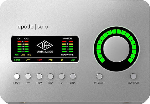 UA Apollo Solo USB3: Desktop 2 x 4 Audio Interface w/ UAD-2 SOLO Processing