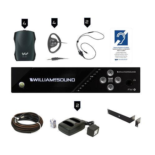 Williams Sound FM 557 PRO FM Plus: Dual FM & WiFi Assistive Listening System