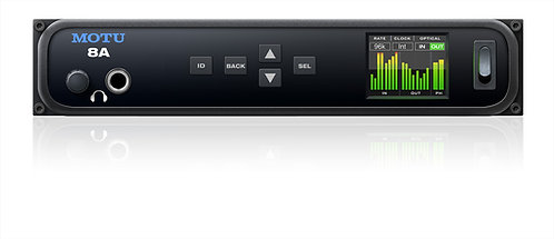 MOTU 8A 16x18 TB/USB3 I/O with 8x8 analog, optical, DSP & networking