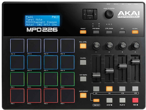 Akai MPD226 Feature-Packed, Highly Playable Pad Controller